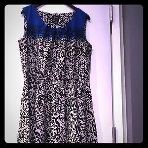 Alfani Royal Blue + Print Swing Dress